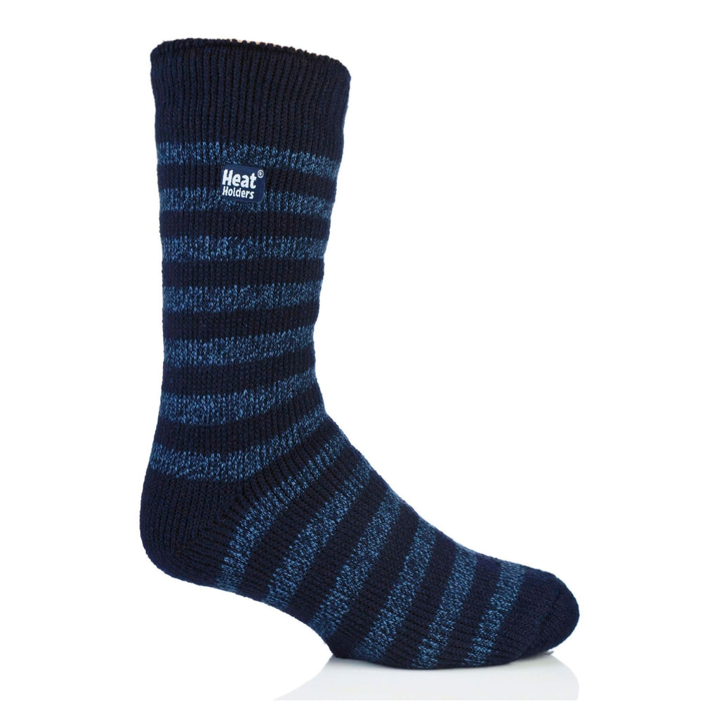 Heat Holders Men's Stripe Navy/Denim Socks