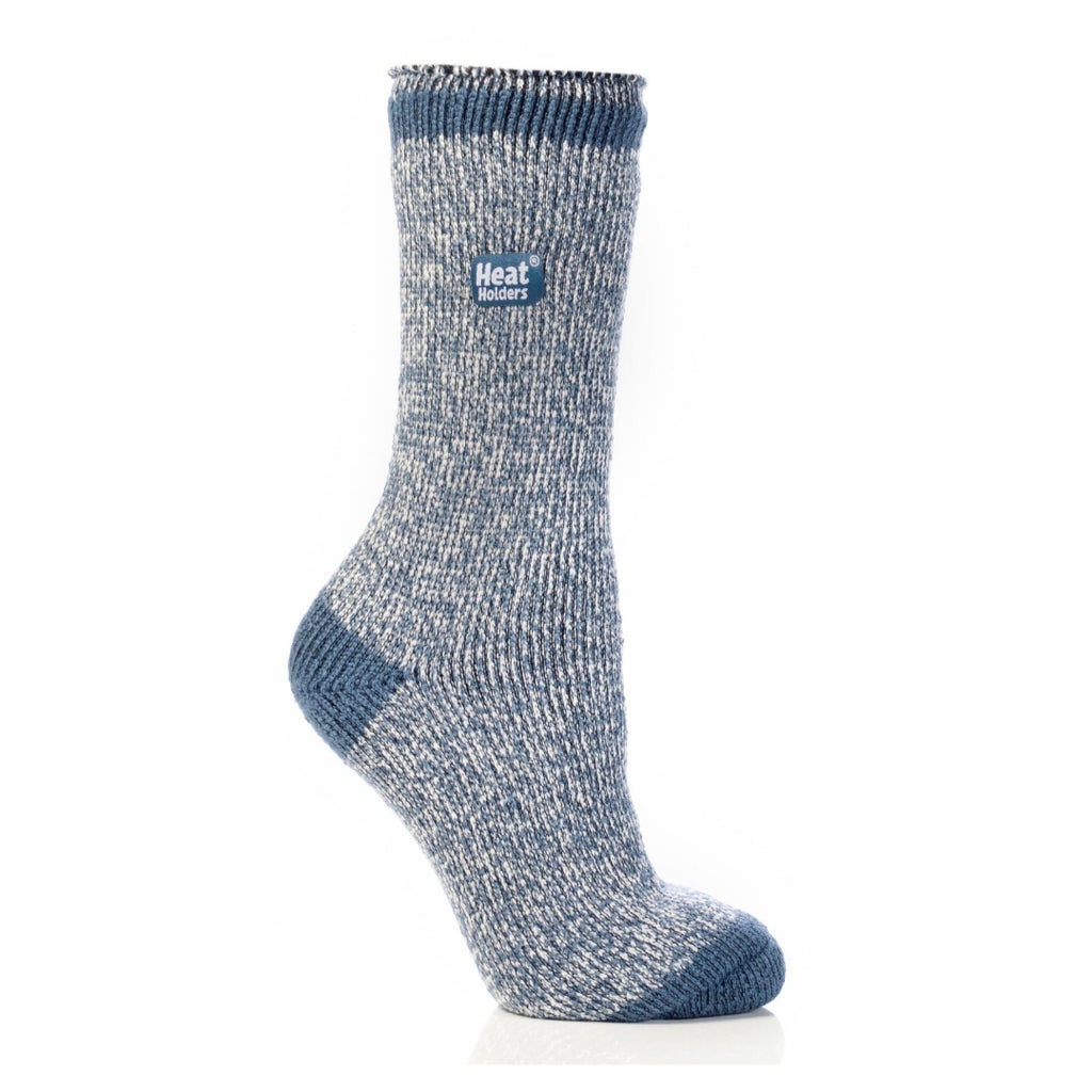 Heat Holders Women's Twist Denim/Cream Socks