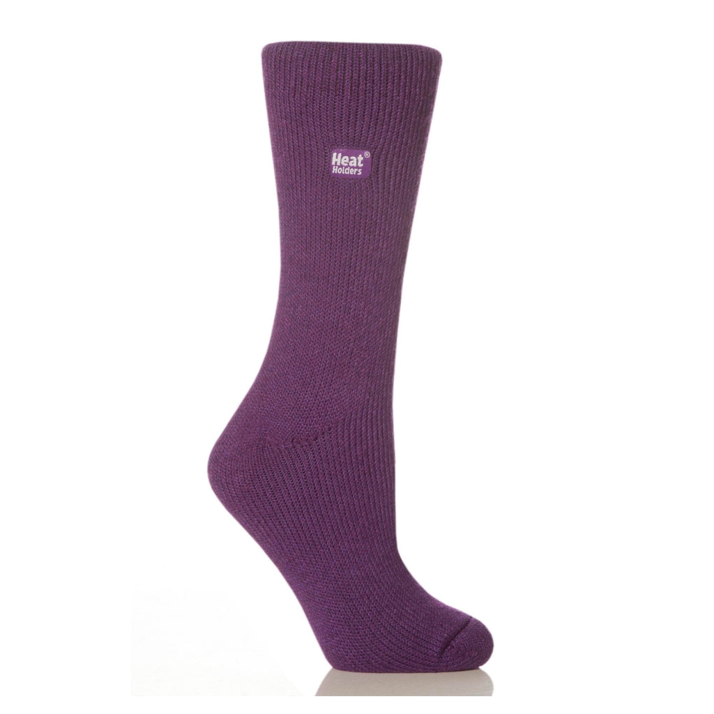 Heat Holders Women's Original Purple Socks
