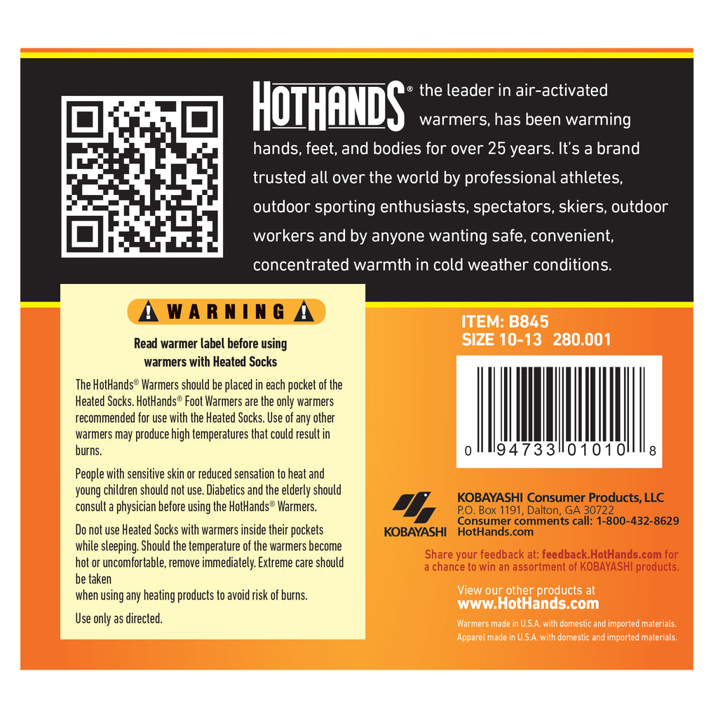HotHands Heated S/M Socks