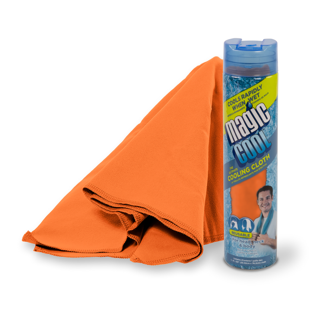 Magic Cool Blaze Orange Cooling Towel