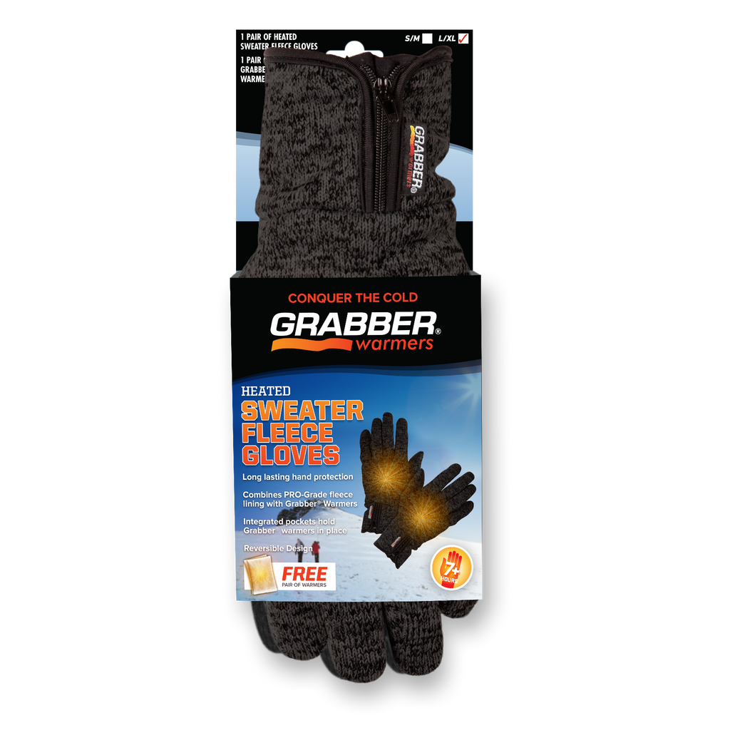 Grabber Sweater Fleece L/XL Heated Gloves