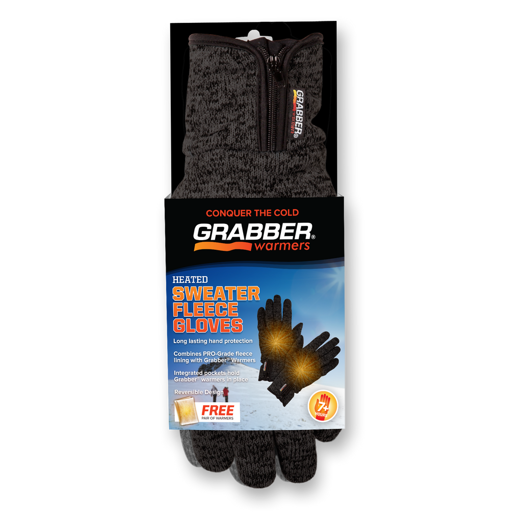 Grabber Sweater Fleece S/M Heated Gloves