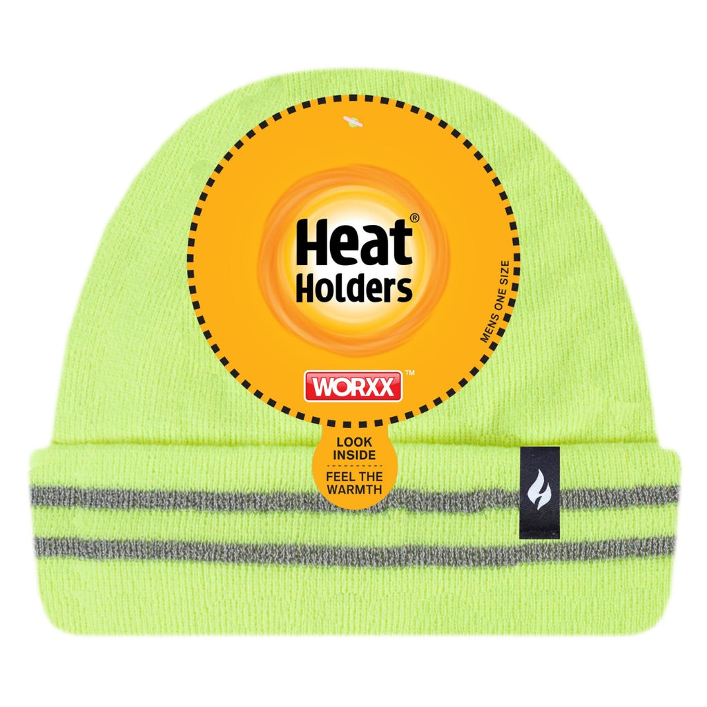 Heat Holders Men's Bright Yellow Worxx Hat