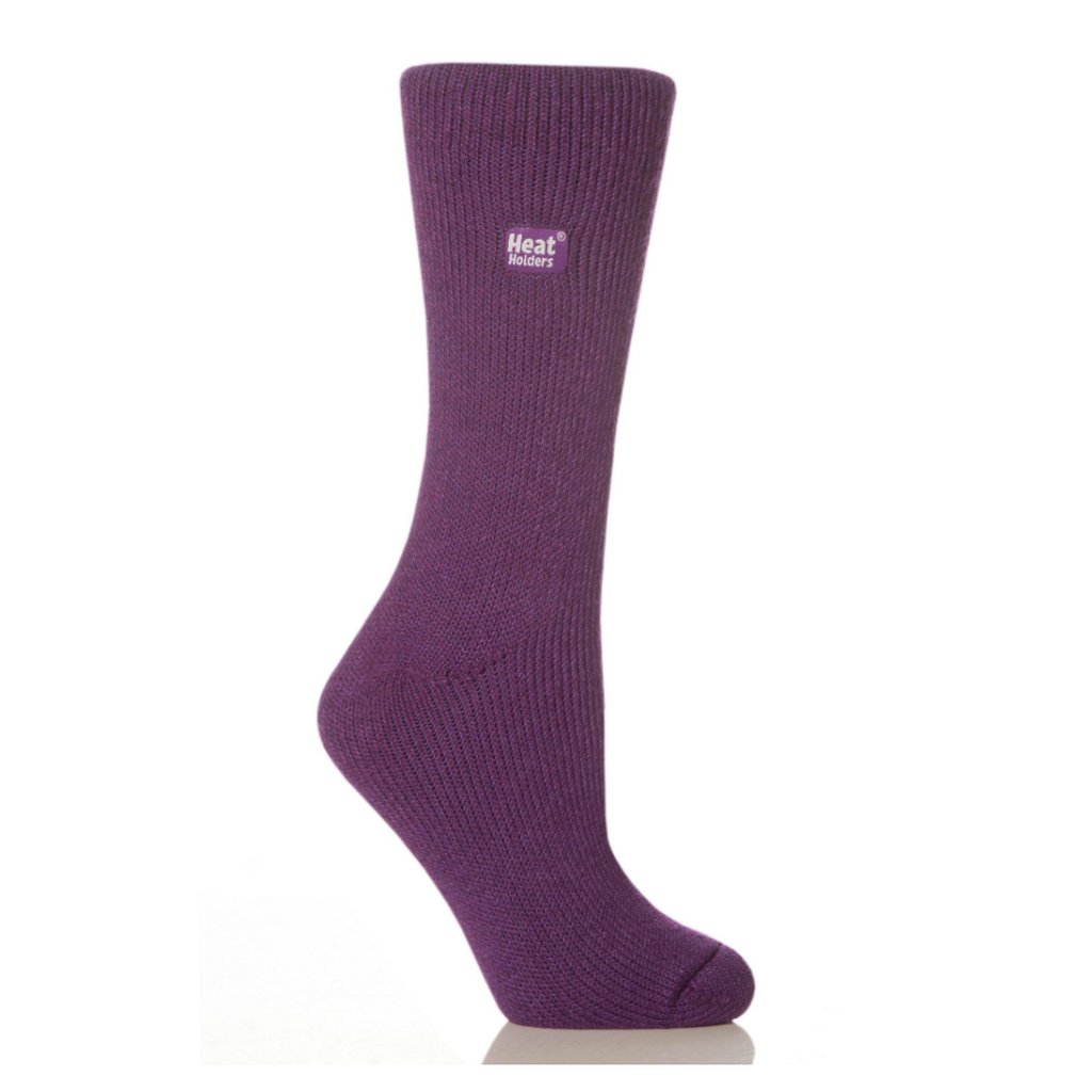 3 Pack | Heat Holders Women's Original Purple Socks