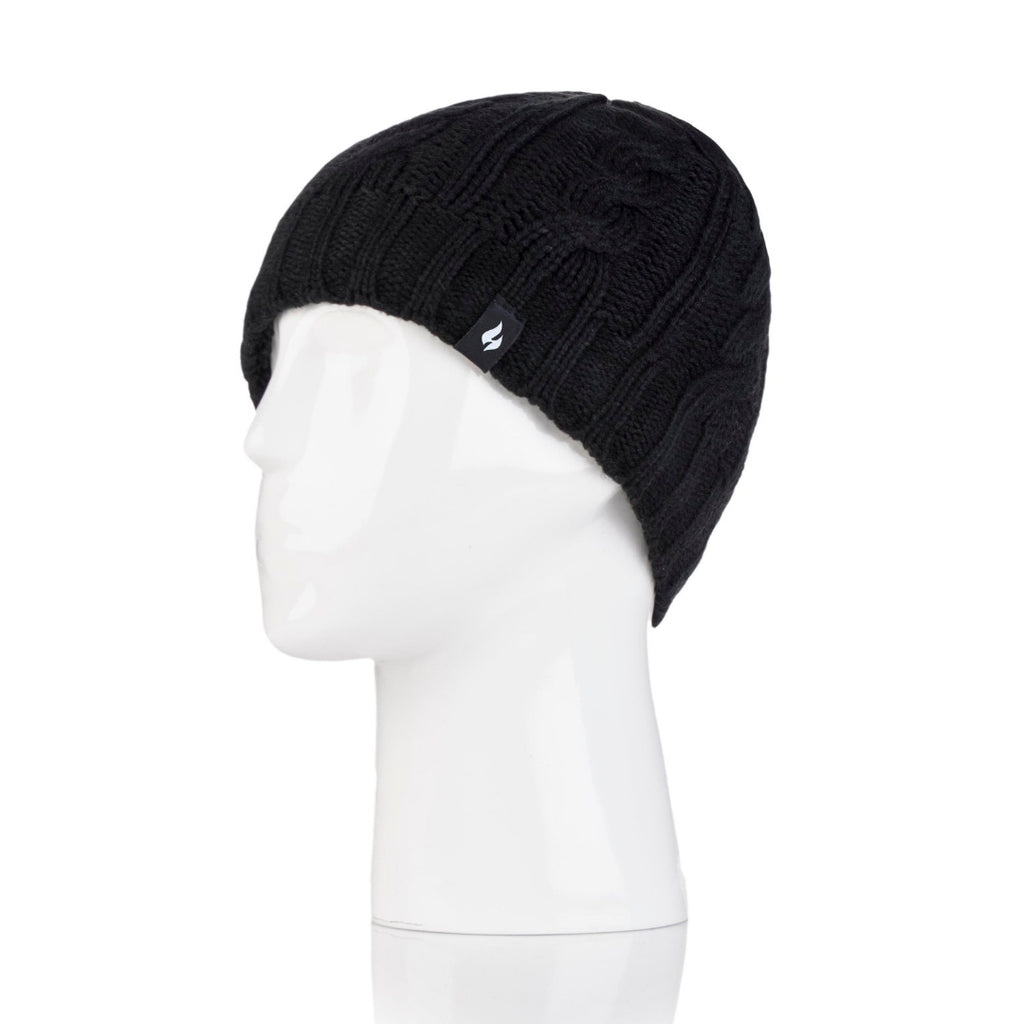 Heat Holders Women's Black Hat