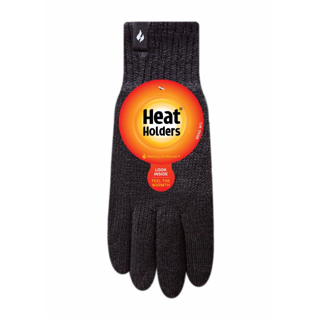 Heat Holders Men's Black S/M Gloves