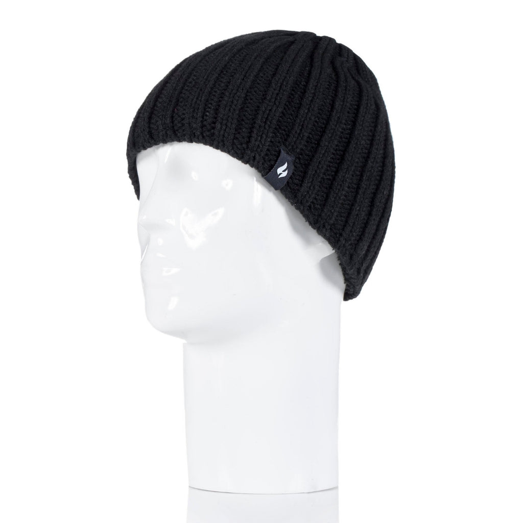 Heat Holders Men's Black Hat