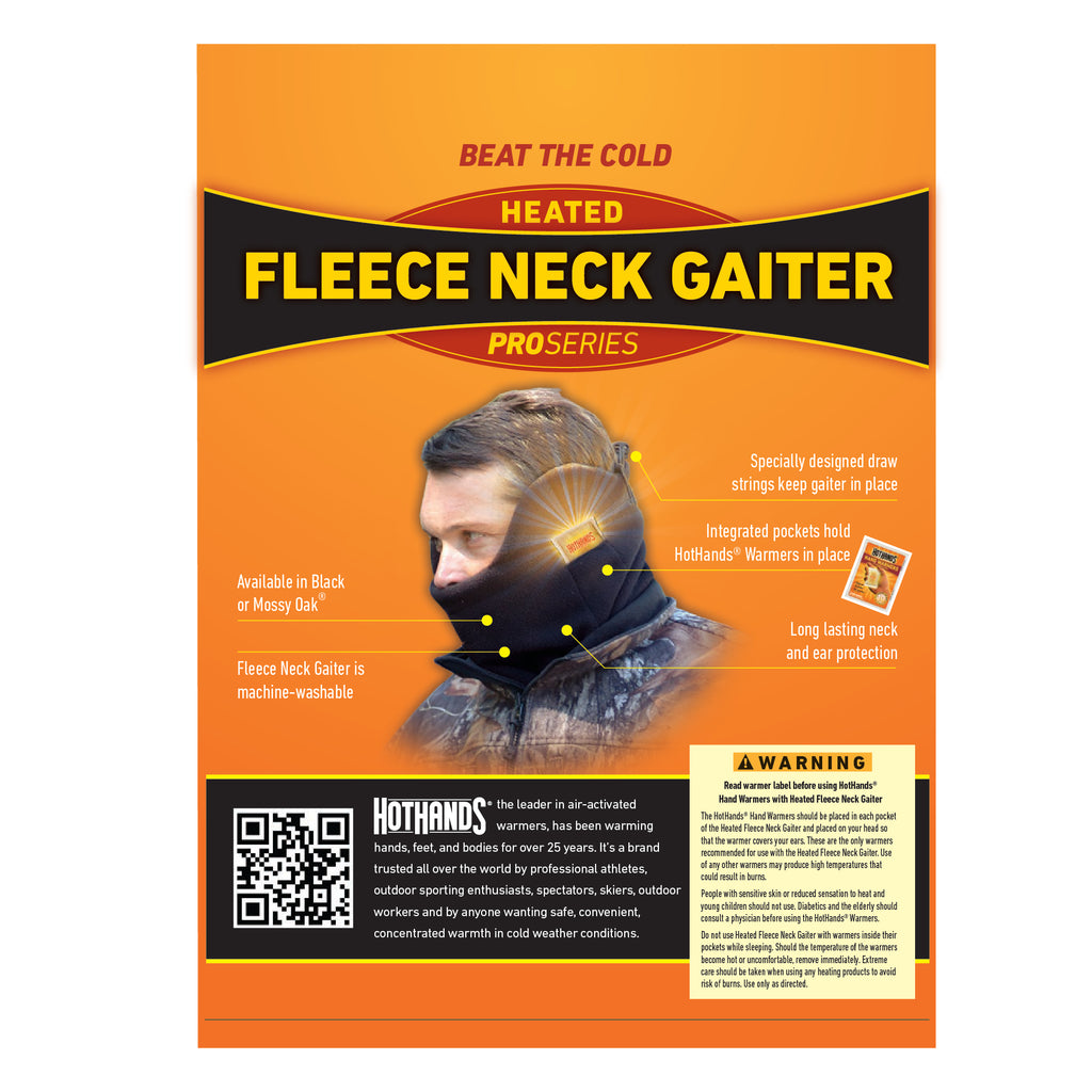 HotHands Fleece Black Neck Gaiter