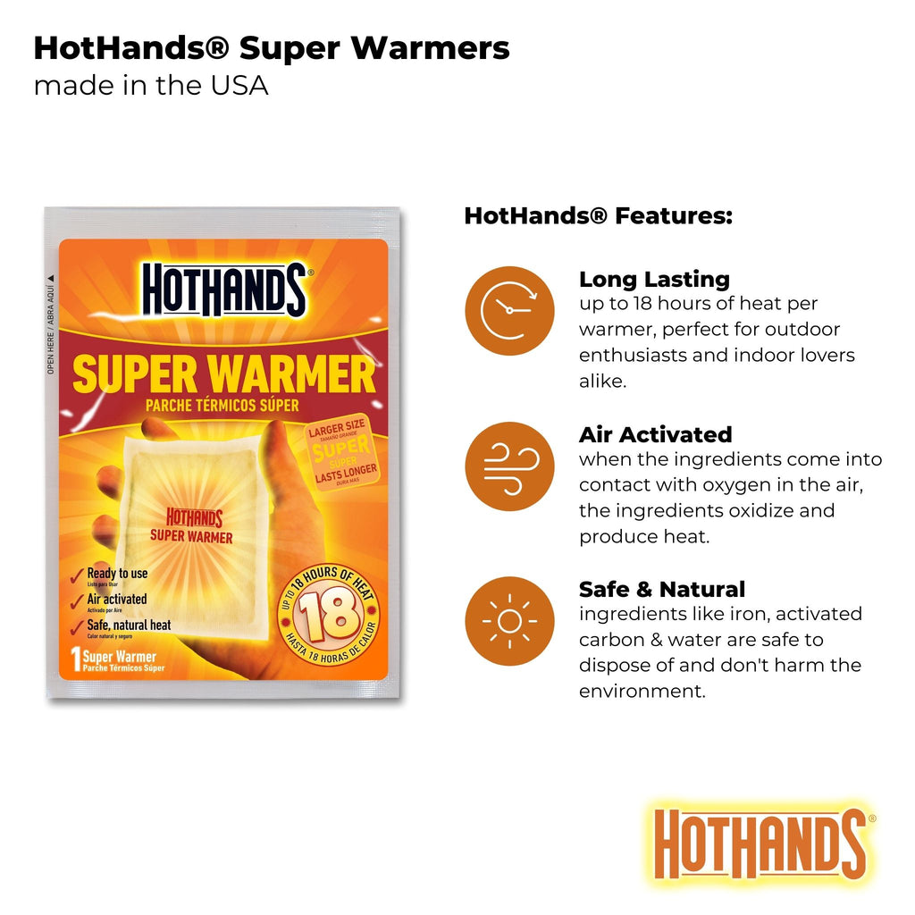 Bulk HotHands® Extended Duration Super Warmers | 6 Displays, 240 Units
