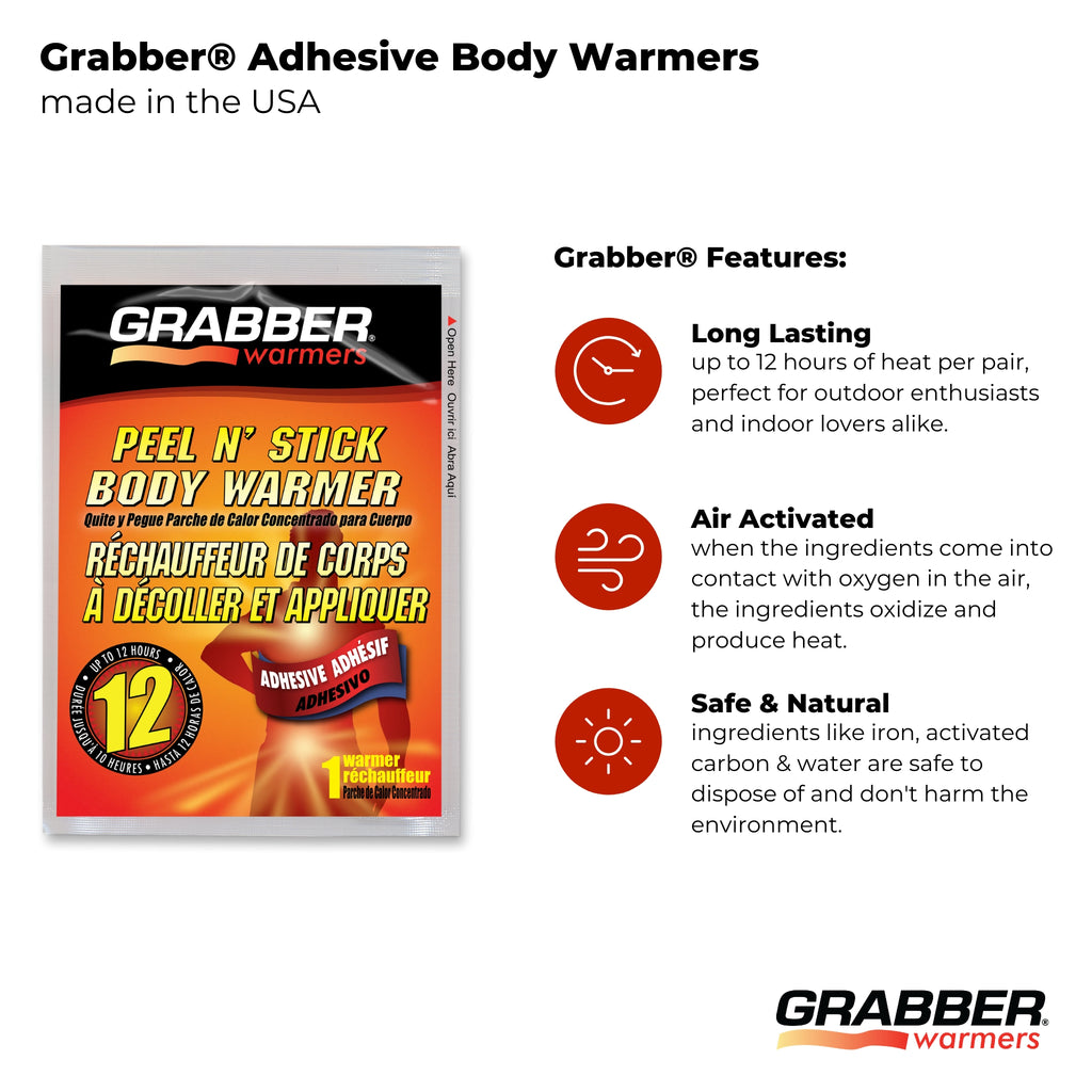 Bulk Grabber® Adhesive Body Warmers | 8 Displays, 320 Units
