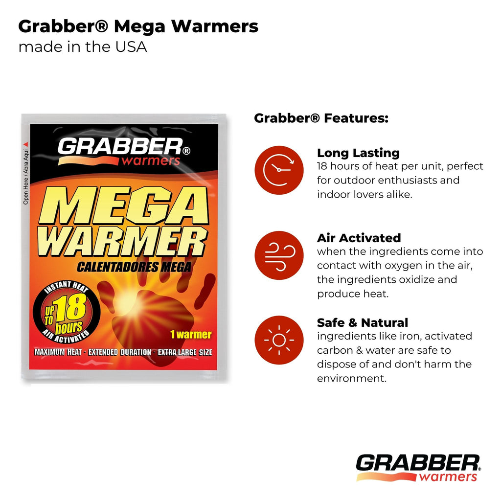Bulk Grabber® Extended Duration Mega Warmers | 8 Displays, 240 Units