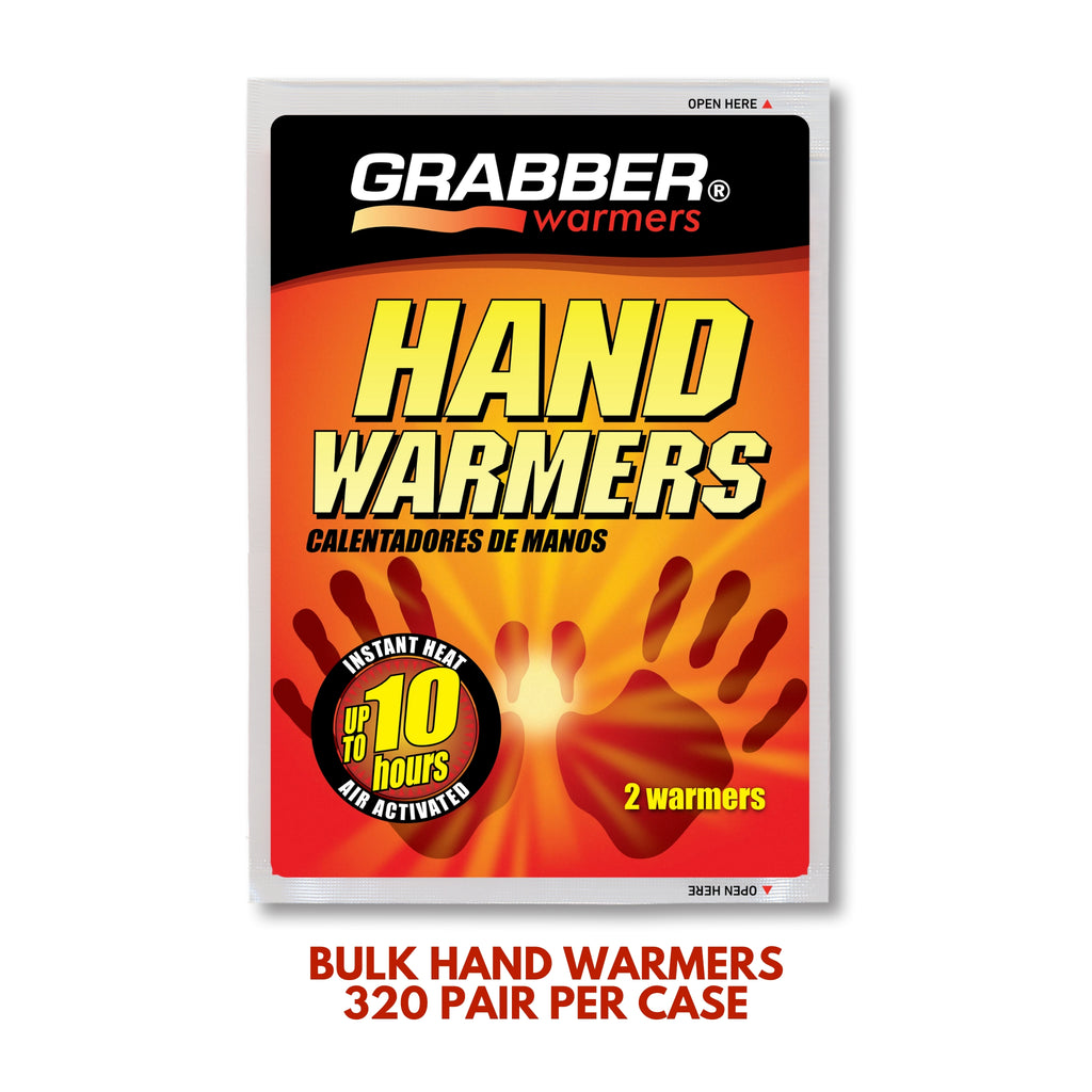 Bulk Grabber® Hand Warmers | 8 Displays, 320 Pair