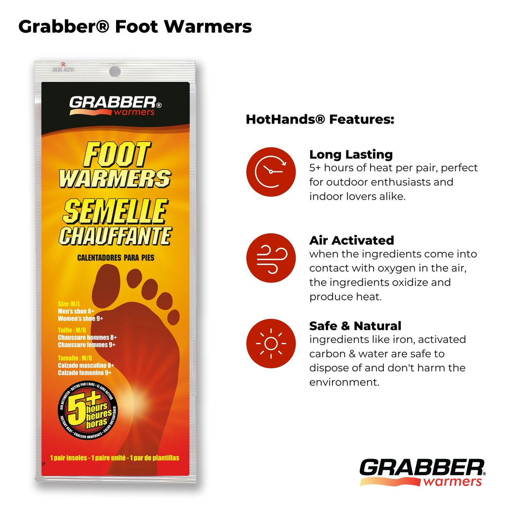 Bulk Grabber® M/L Foot Warmers | 8 Displays, 240 Pair