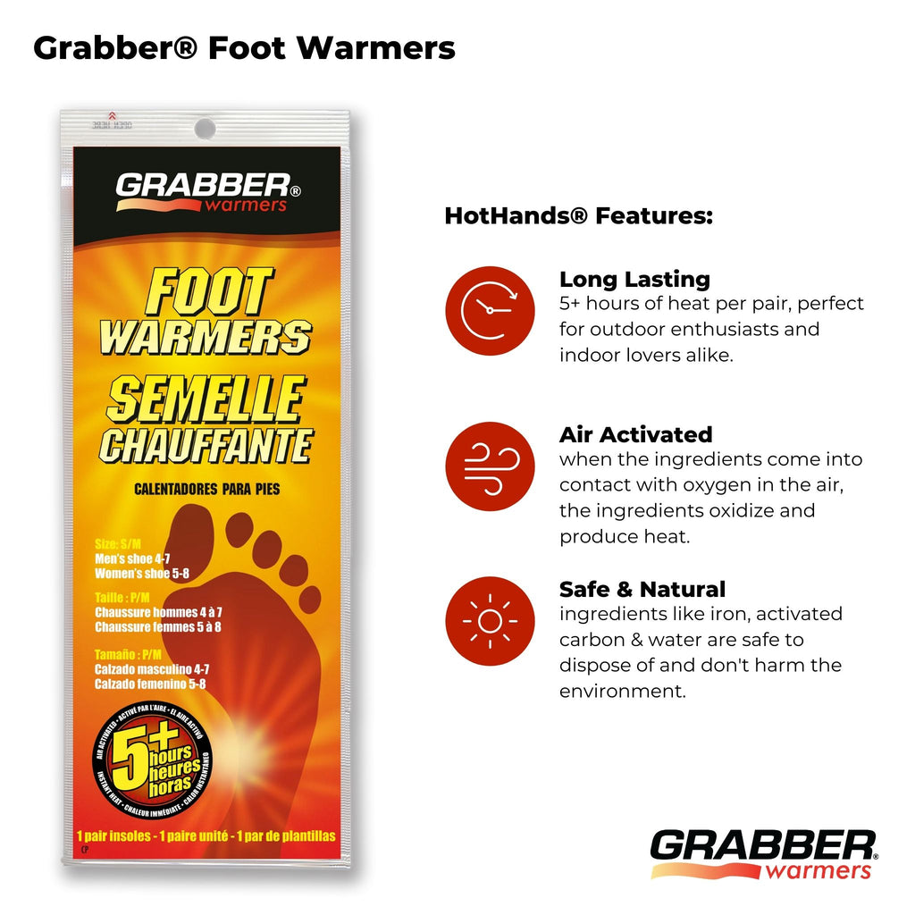 Bulk Grabber® S/M Foot Warmers | 8 Displays, 240 Pair