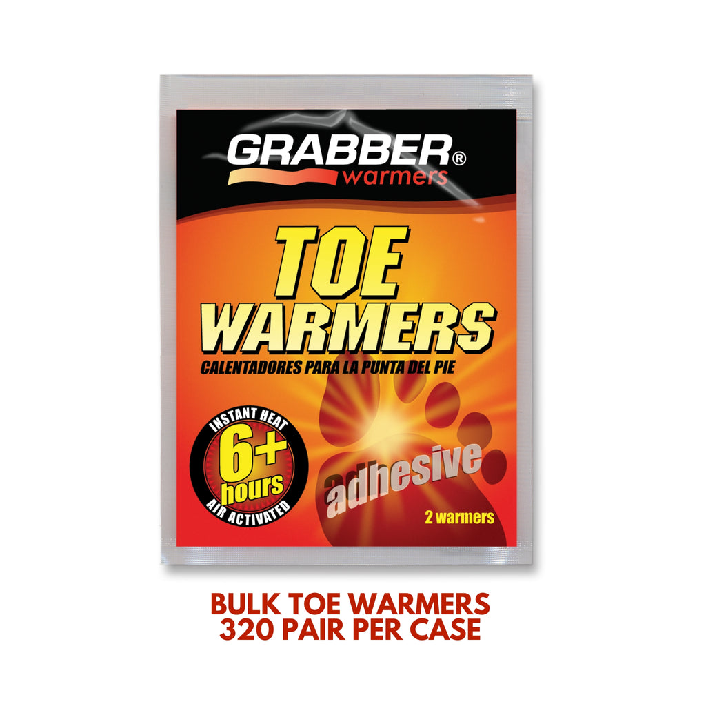 Bulk Grabber® Adhesive Toe Warmers | 8 Displays, 320 Pair