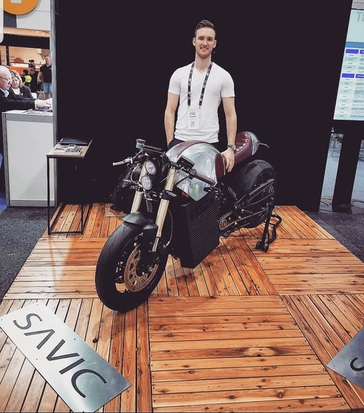 (Instagram @Savic.Motorcycles) Day One. National Roads & Traffic Expo Sparking a lot of attention ⚡⚡