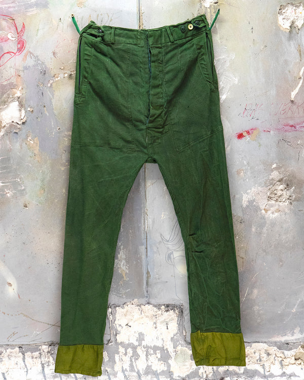 Classic Fit Trouser Moss Green