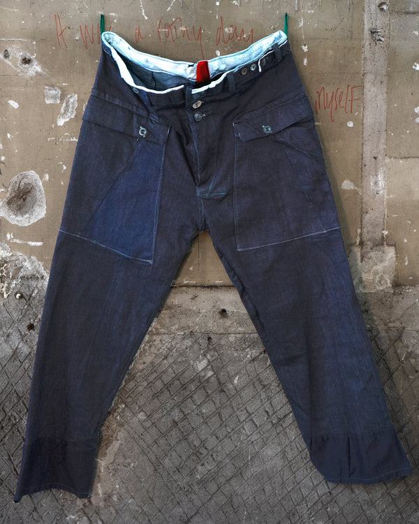Classic Fit Trouser Denim Look