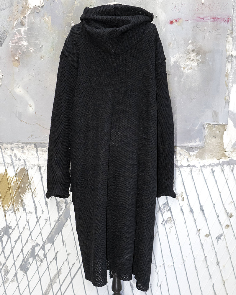 Hooded Cardigan Black