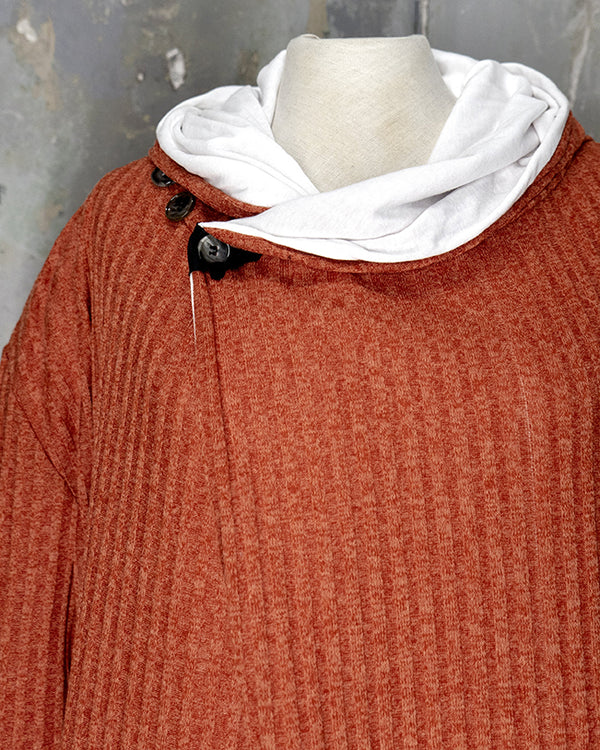 Hooded Cardigan Dark Peach