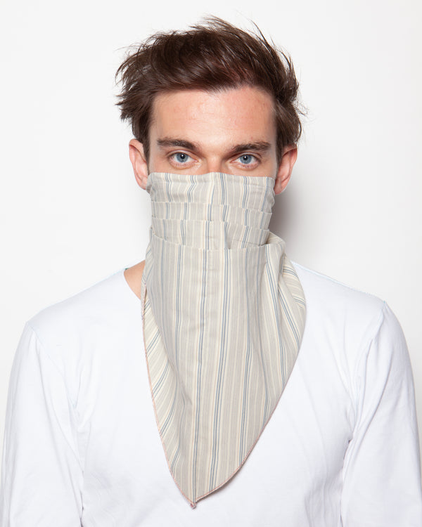 DASMASK Grey Pin-Stripe