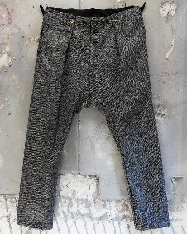 Pleat Trouser Light Grey