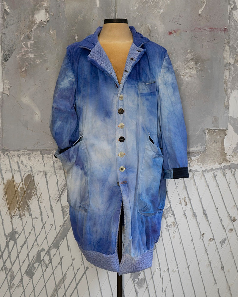 Reversible Coat Electric Blue