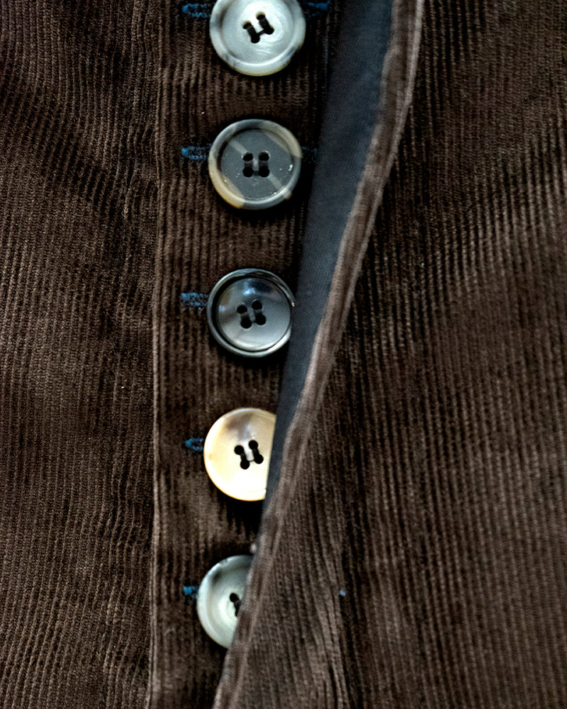 Classic Fit Trouser Brown Corduroy