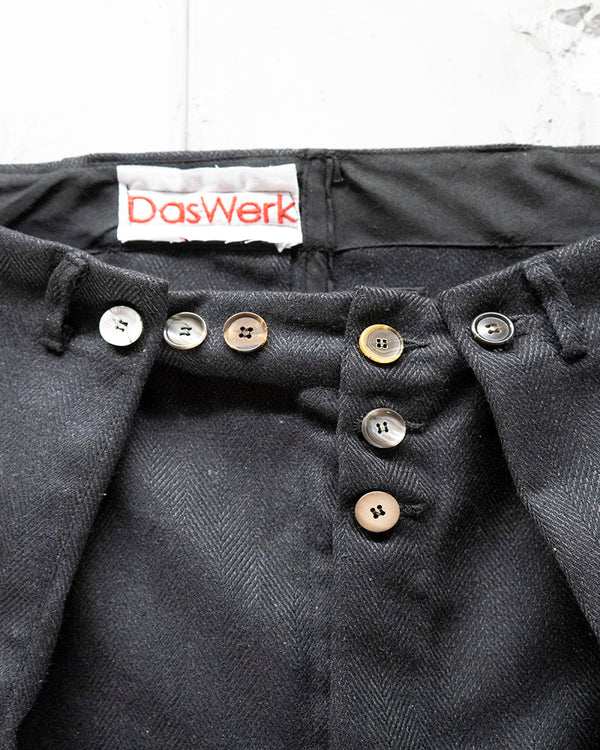 Pleat Trouser Charcoal