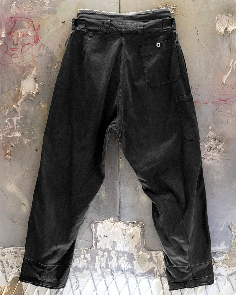 Denim Adjustable Trouser Black