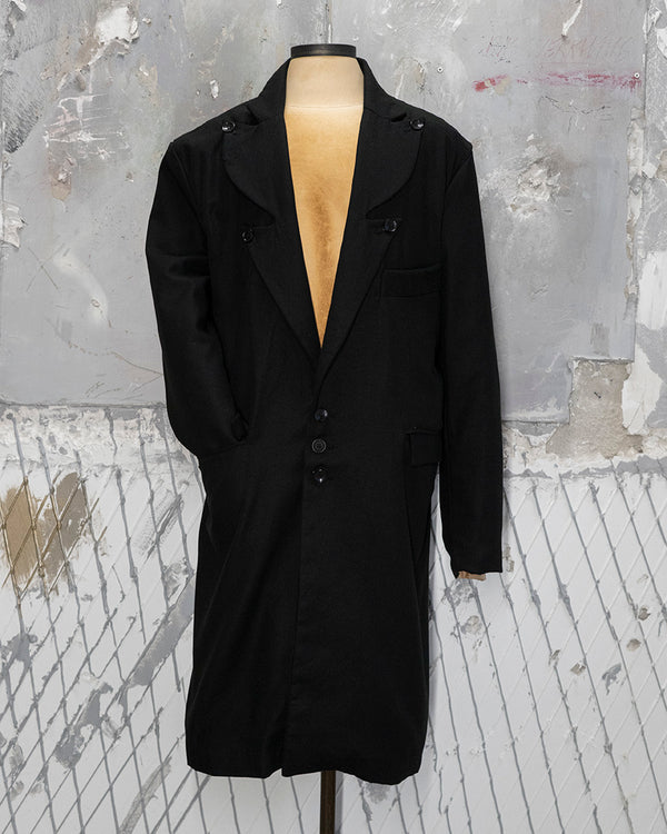 Deluxe Coat Black Satin