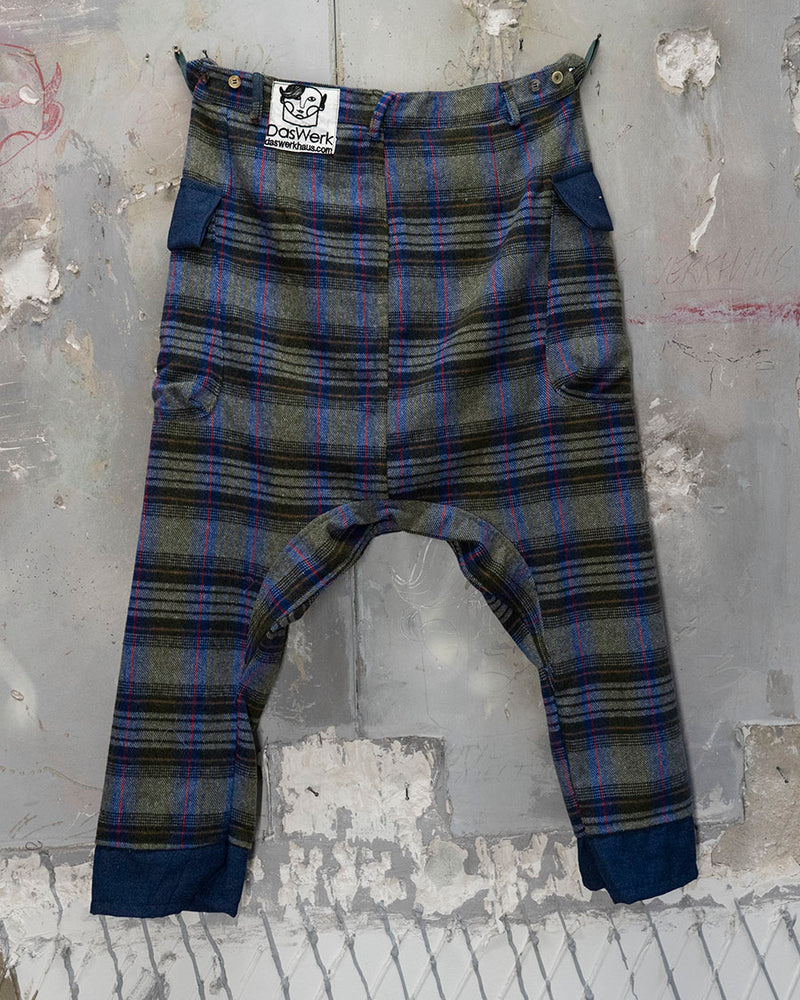 Schalvar Trouser Plaid Grey