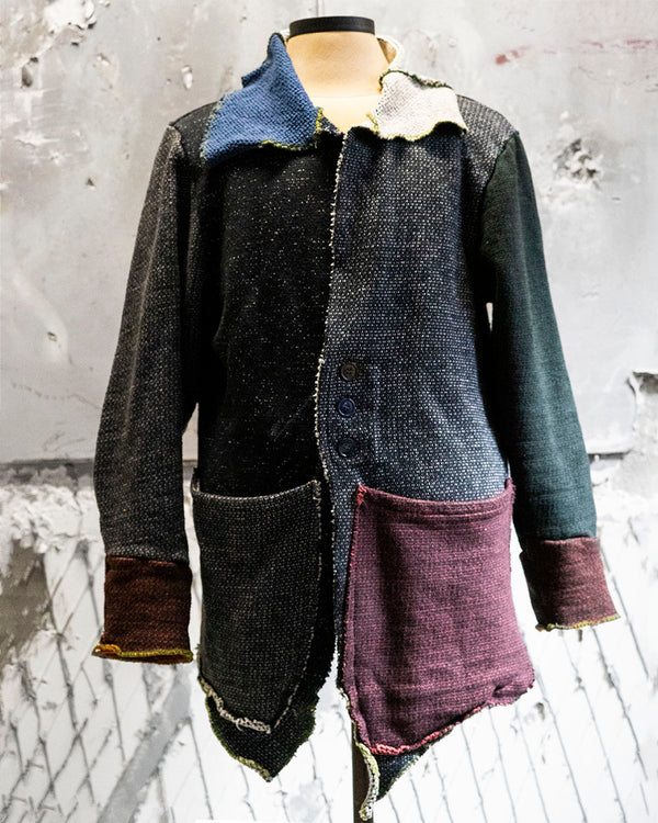Das Patchwork Cardigan Dark