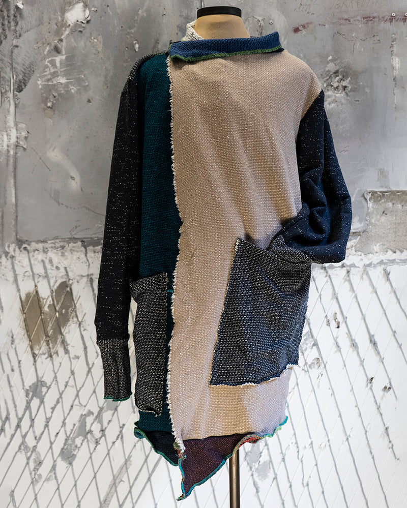 Beige & Blue Cardigan