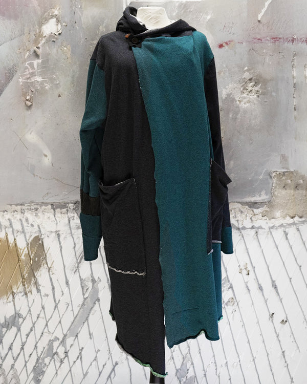 Long Emerald/Grey Cardigan