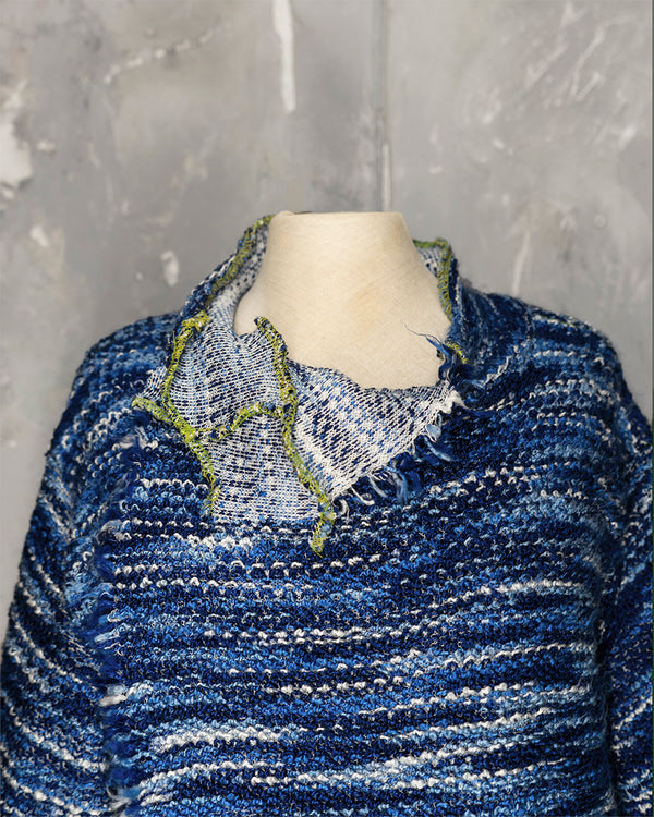 Cardigan Blue Blend Waves