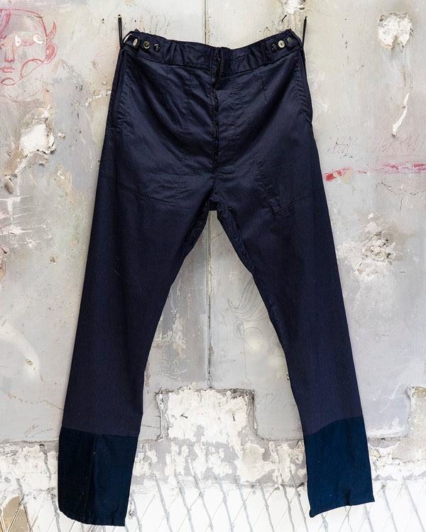 Classic Fit Trouser Navy Pinstripe