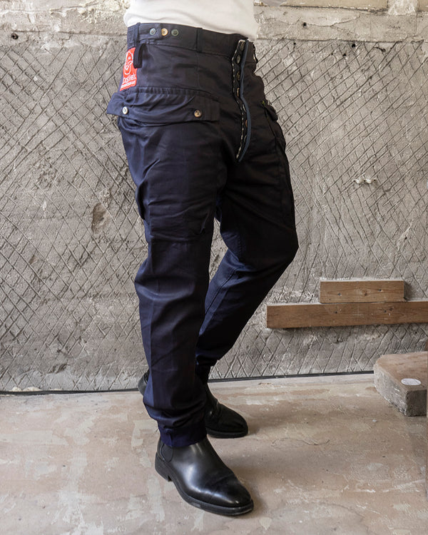 Classic Fit Broek Waxed Navy