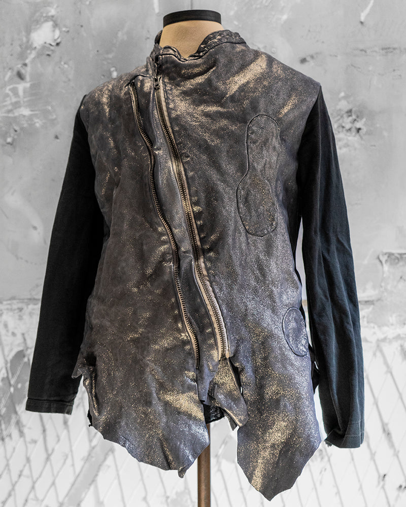 Shimmer Leather Jacket