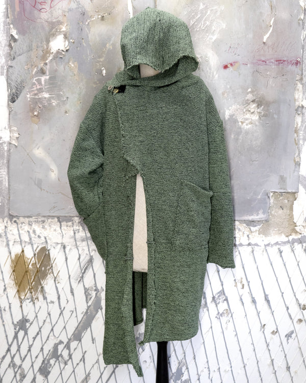 Hooded Cardigan Moss