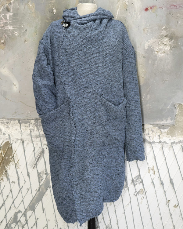 Hooded Cardigan Light Blue