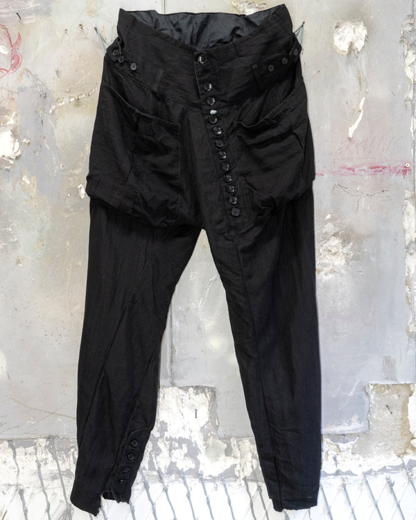 Classic Fit Trouser Diagonal Black