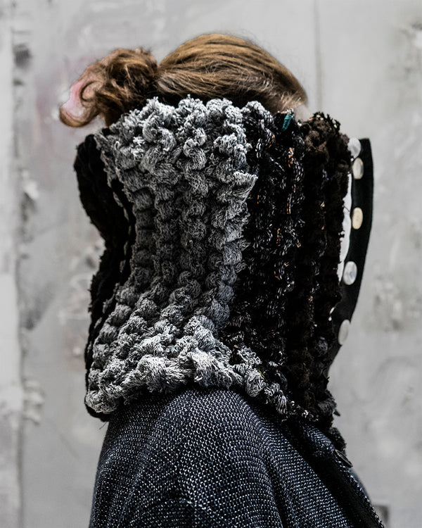 Braided Neck Warmer Gri