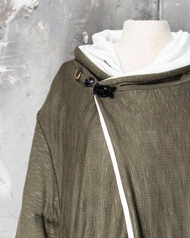 Hooded Cardigan Olive