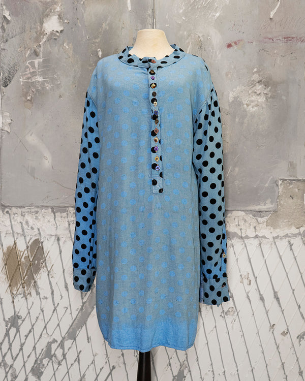 Polka Dot Tunic/Shirt Mavi
