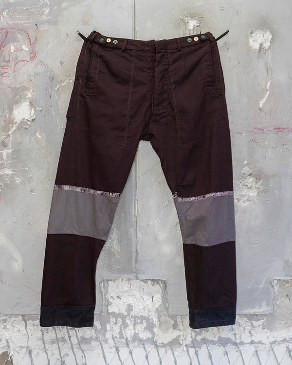 Classic Fit Trouser Patchwork Burgundy