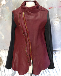 Leather Art Jacket Ruby