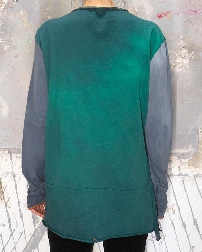 Sweater-Top Stormy Blue & Emerald