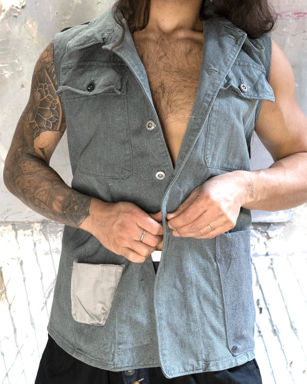 Swiss Denim Vest